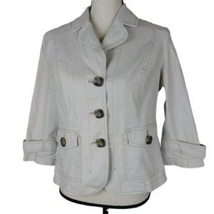 Coldwater Creek Jacket Size 12 Petite Button Up